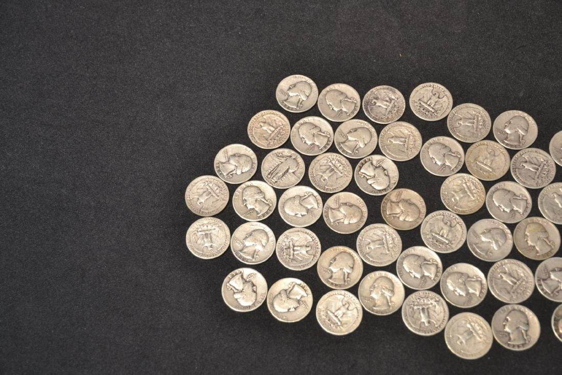 (50) SILVER QUARTERS FROM 1943 & 1944 - 5