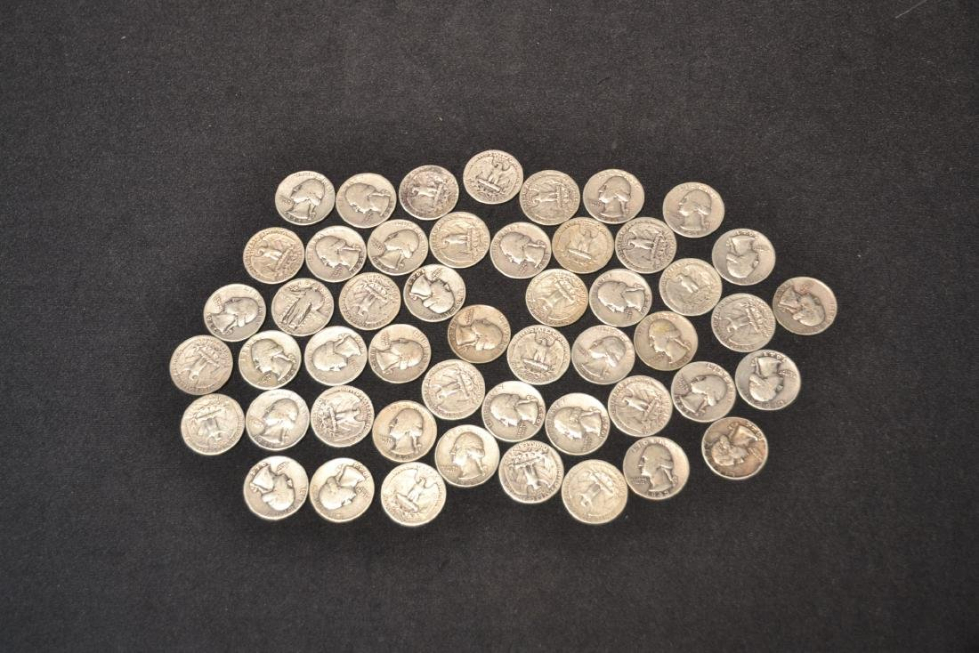 (50) SILVER QUARTERS FROM 1943 & 1944 - 6