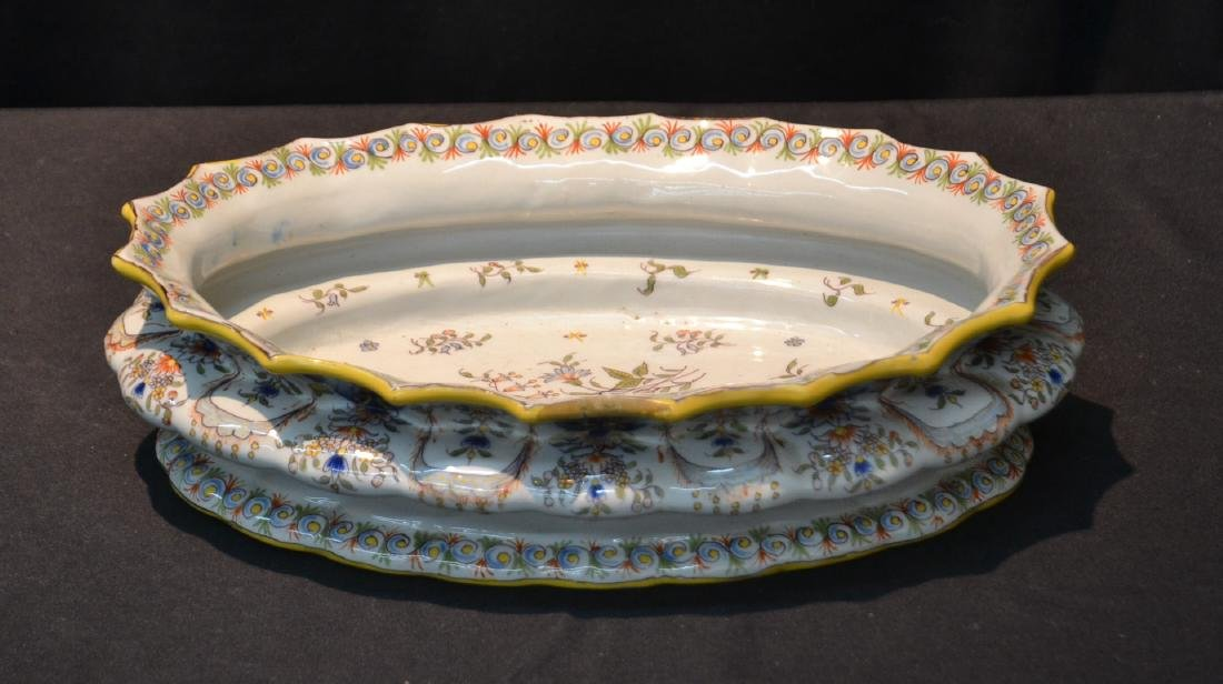 """FRENCH FAIENCE BOWL - 14"""" x 9 1/2"""" x 4"""""""