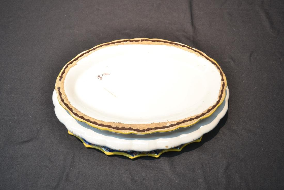 """FRENCH FAIENCE BOWL - 14"""" x 9 1/2"""" x 4"""" - 8"""