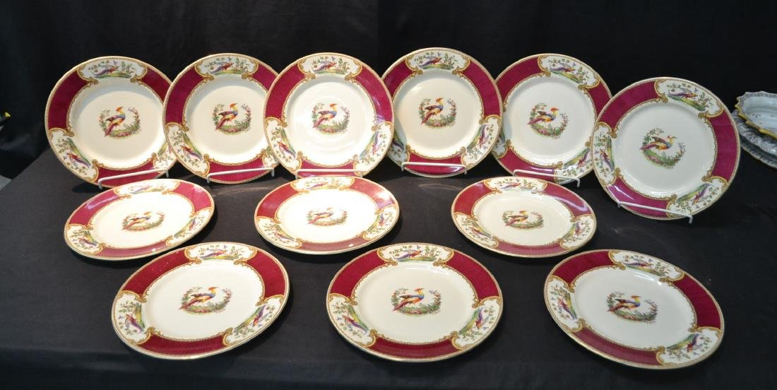 """(12) STAFFORDSHIRE """"CHELSEA RED"""" SERVICE PLATES"""