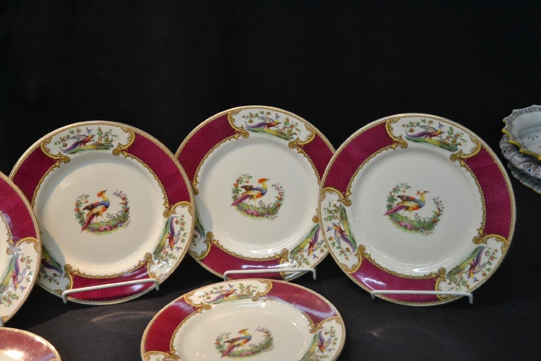 """(12) STAFFORDSHIRE """"CHELSEA RED"""" SERVICE PLATES - 2"""