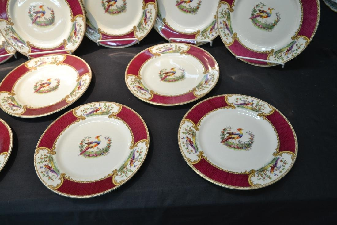 """(12) STAFFORDSHIRE """"CHELSEA RED"""" SERVICE PLATES - 4"""