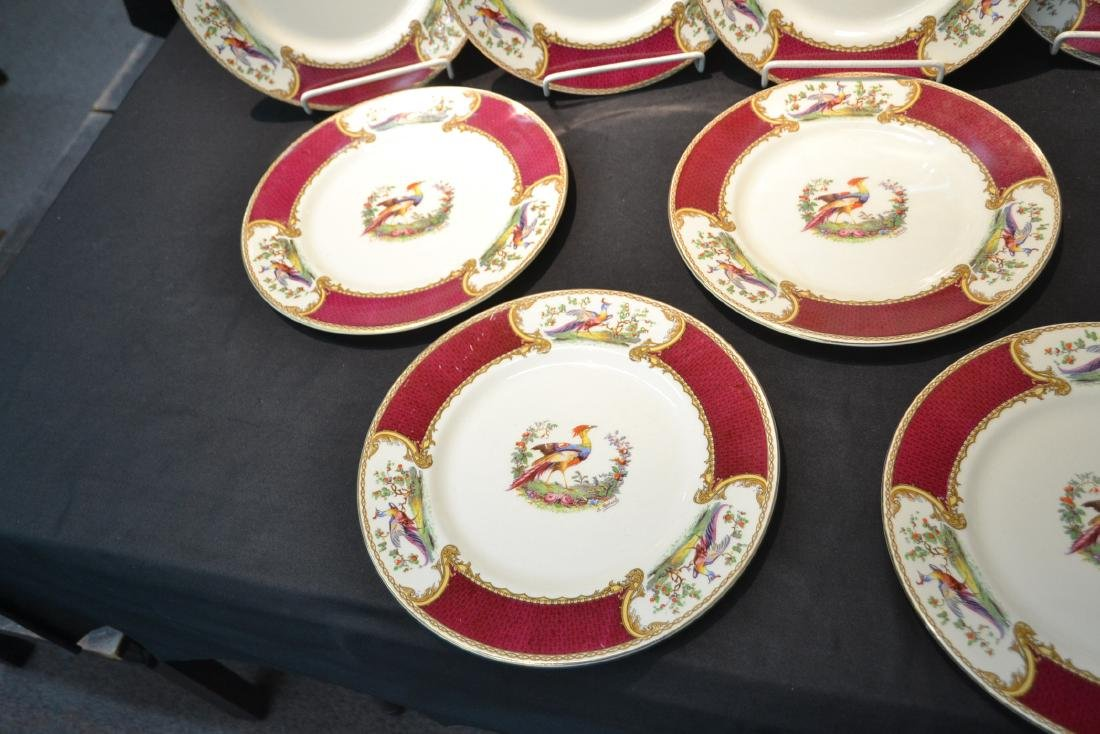 """(12) STAFFORDSHIRE """"CHELSEA RED"""" SERVICE PLATES - 5"""