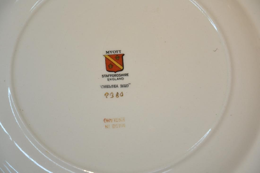 """(12) STAFFORDSHIRE """"CHELSEA RED"""" SERVICE PLATES - 7"""