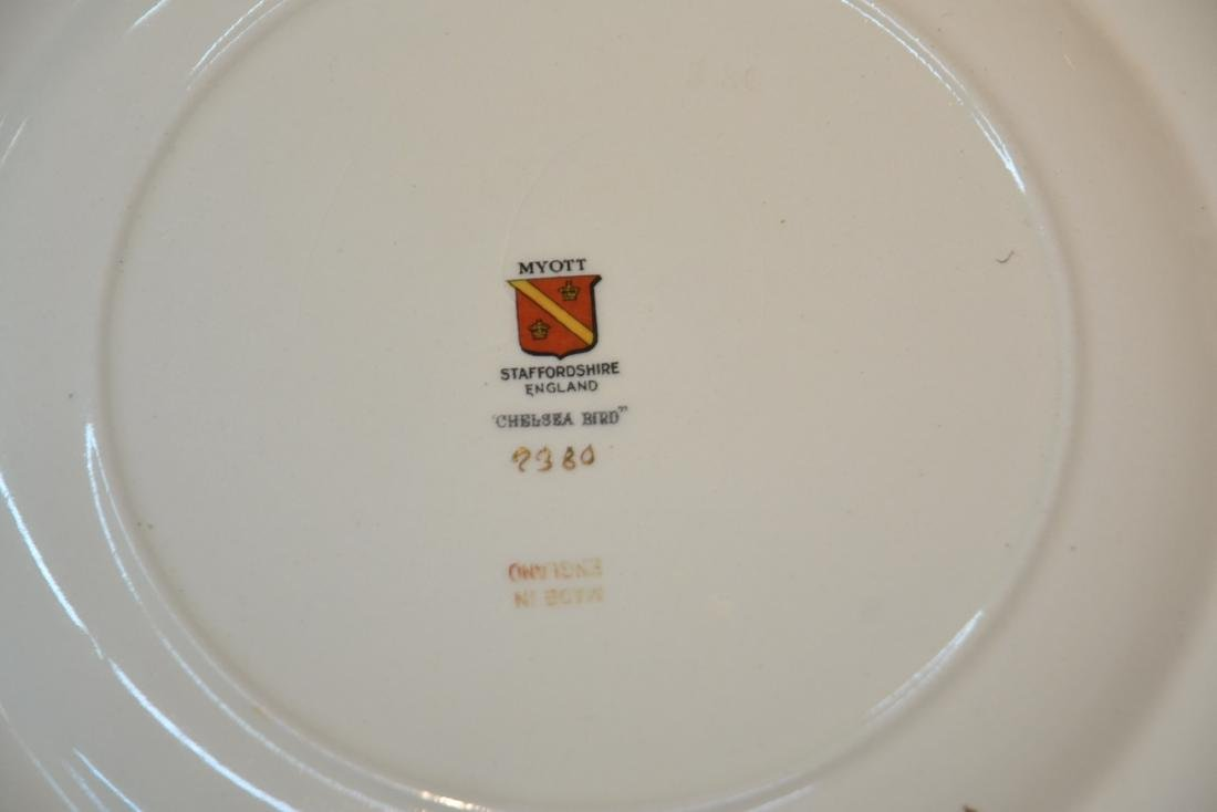 """(12) STAFFORDSHIRE """"CHELSEA RED"""" SERVICE PLATES - 8"""