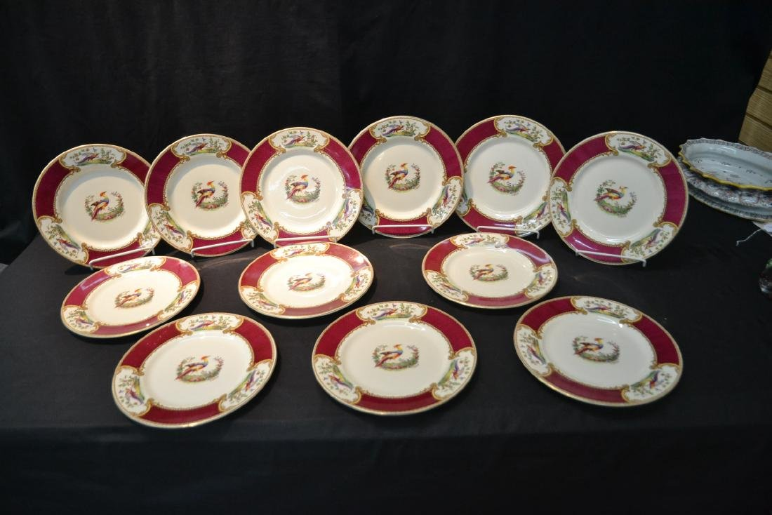 """(12) STAFFORDSHIRE """"CHELSEA RED"""" SERVICE PLATES - 9"""