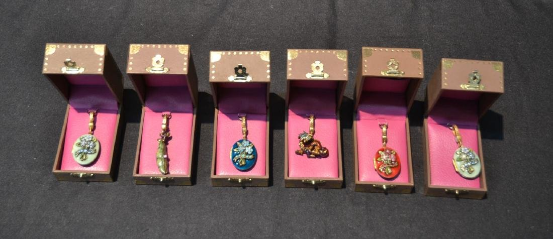 (6) JAY STRONGWATER ENAMELED CHARMS TO INCLUDE