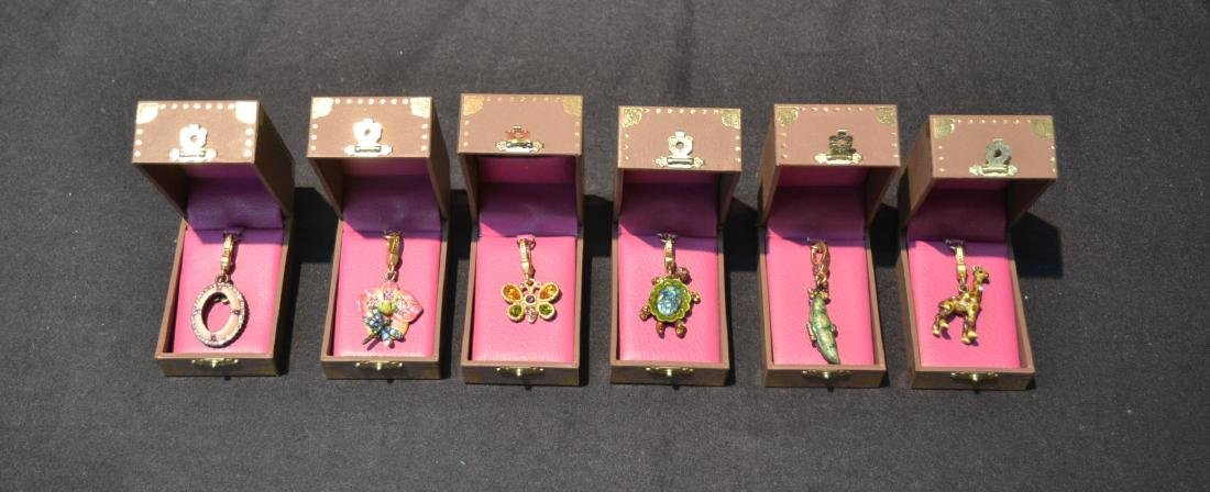 (6) JAY STRONGWATER CHARMS TO INCLUDE
