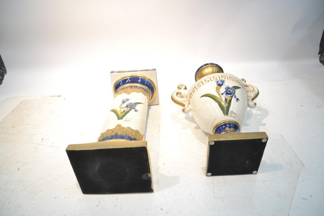 HAND PAINTED PORTUGESE PORCELAIN TWIN HANDLE - 10