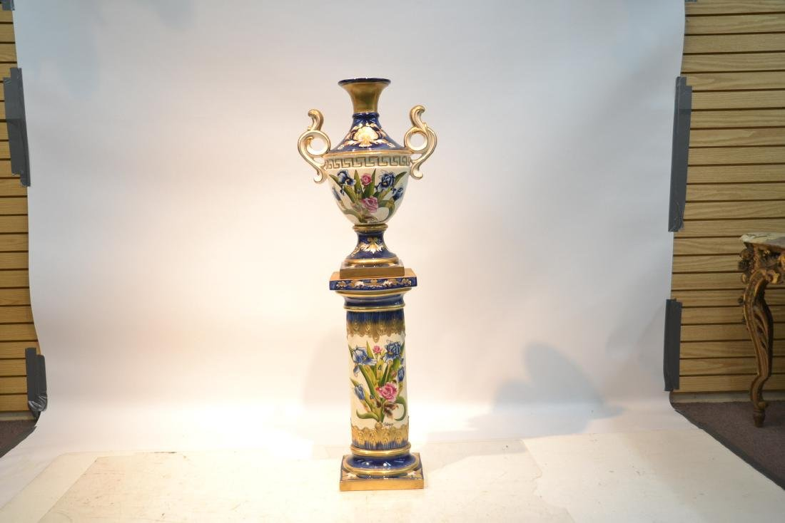 HAND PAINTED PORTUGESE PORCELAIN TWIN HANDLE - 2
