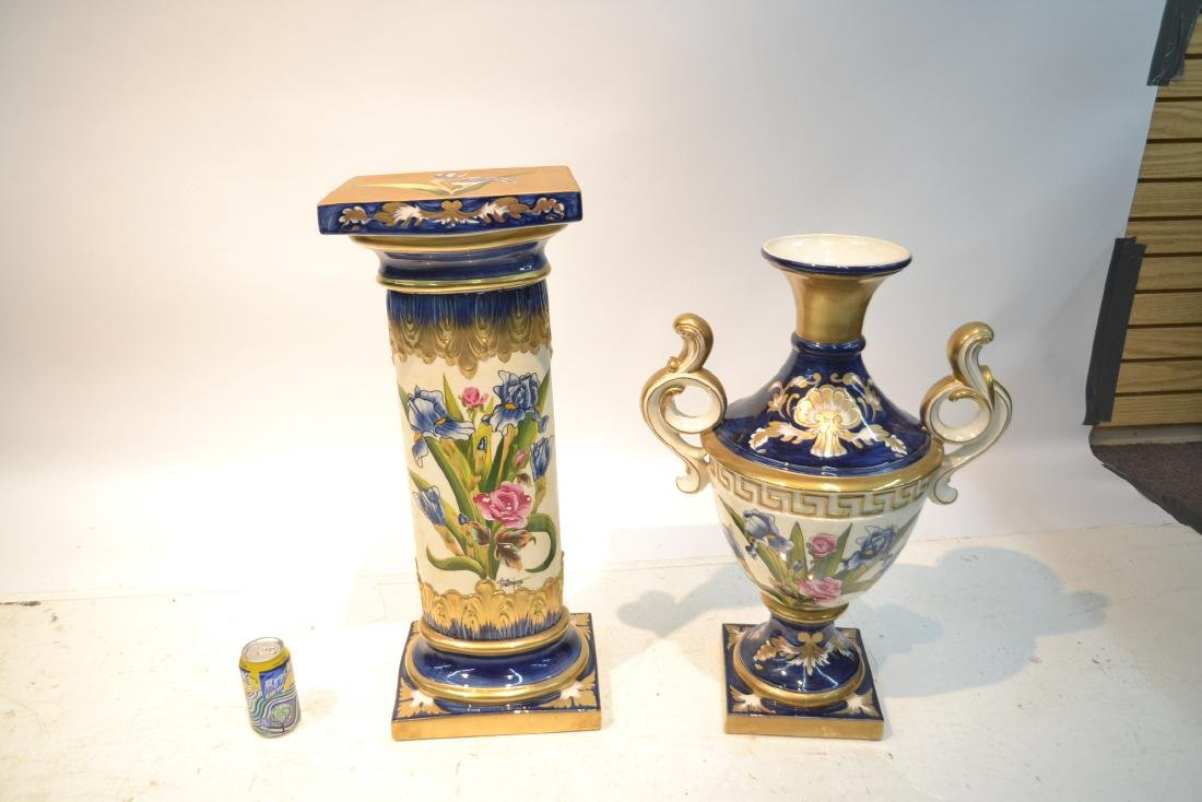 HAND PAINTED PORTUGESE PORCELAIN TWIN HANDLE - 5