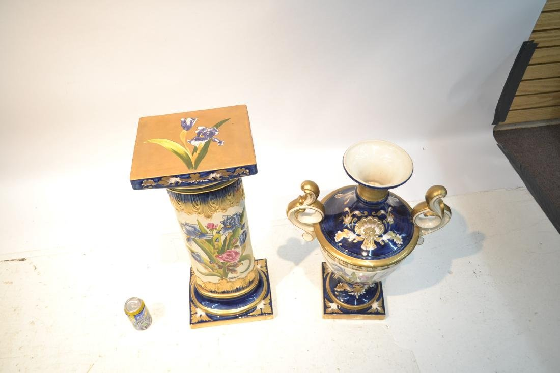 HAND PAINTED PORTUGESE PORCELAIN TWIN HANDLE - 6