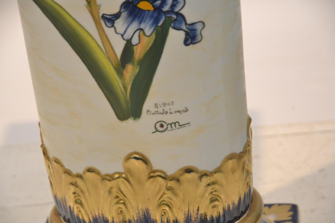 HAND PAINTED PORTUGESE PORCELAIN TWIN HANDLE - 9