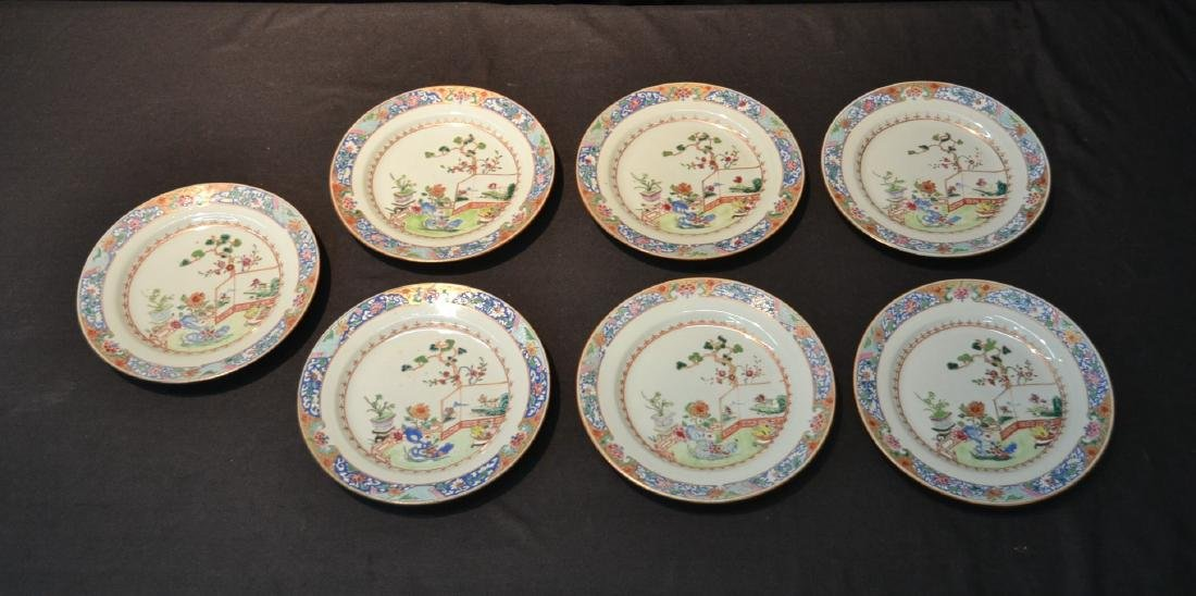 (7) ANTIQUE CHINESE PORCELAIN PLATES WITH