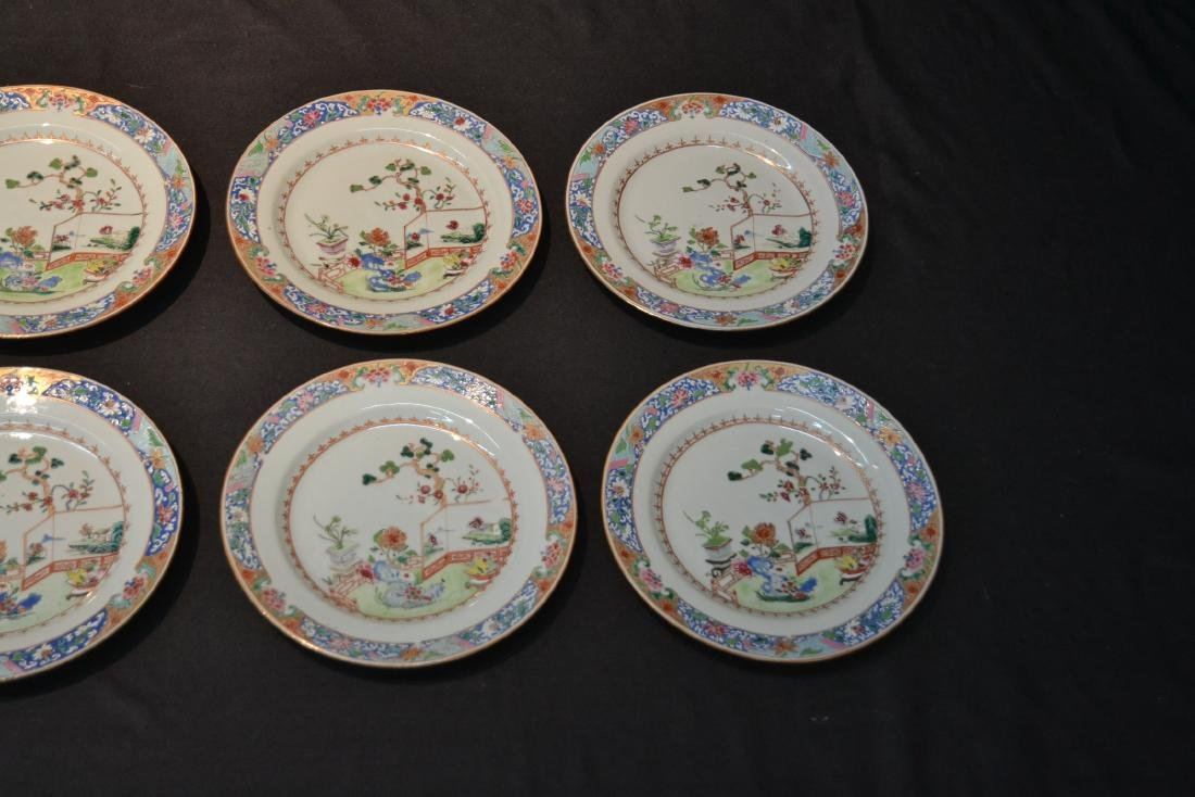 (7) ANTIQUE CHINESE PORCELAIN PLATES WITH - 2