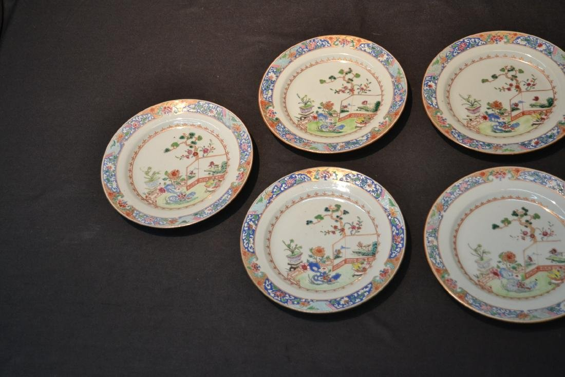(7) ANTIQUE CHINESE PORCELAIN PLATES WITH - 3