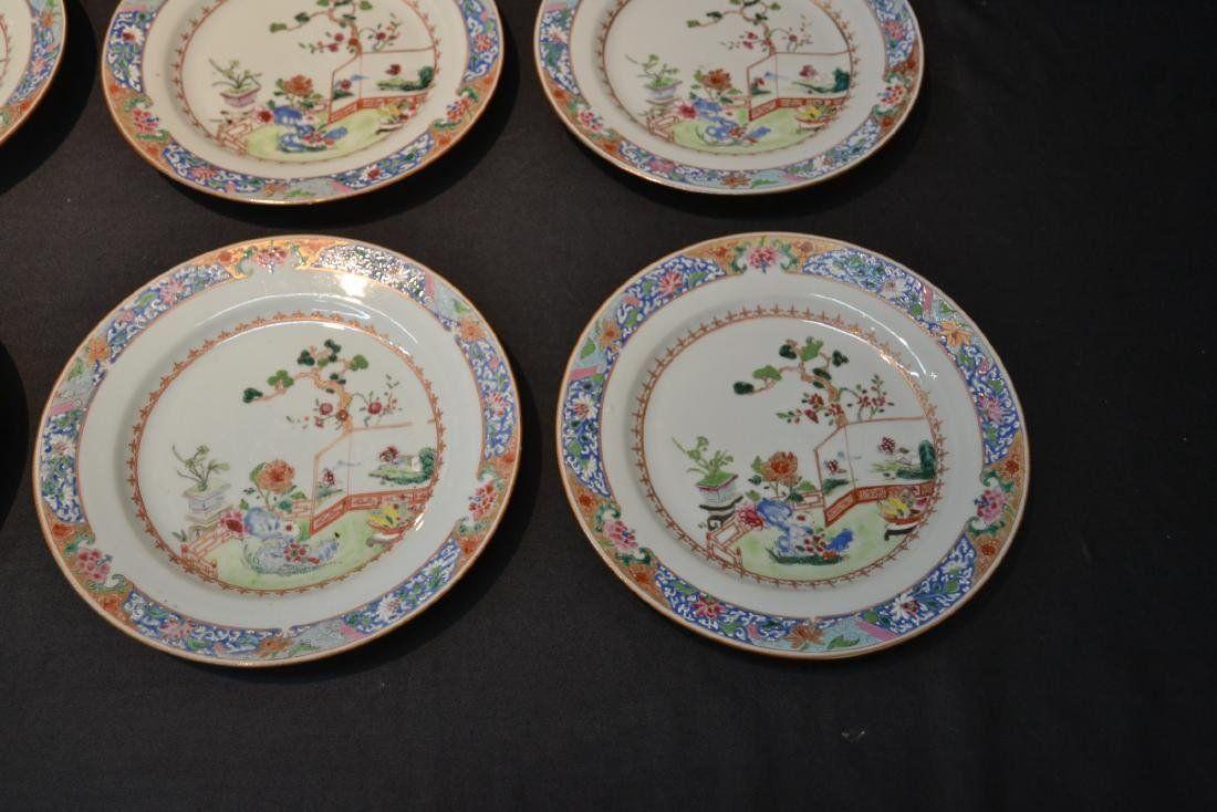 (7) ANTIQUE CHINESE PORCELAIN PLATES WITH - 4