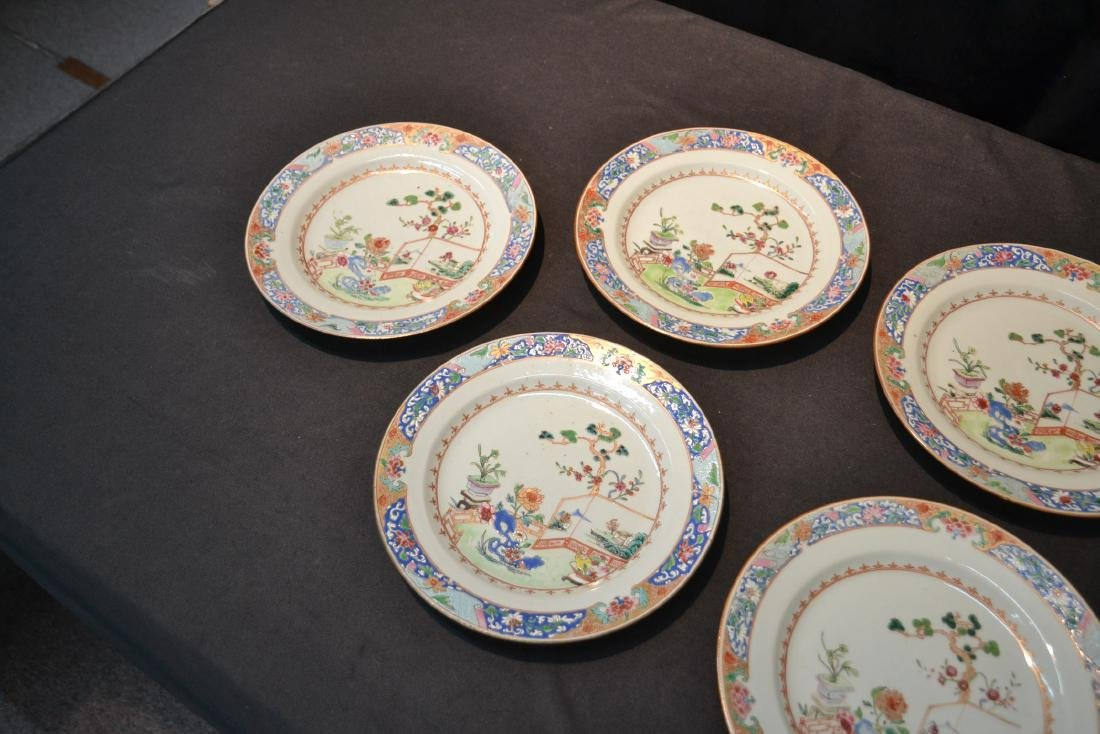 (7) ANTIQUE CHINESE PORCELAIN PLATES WITH - 5
