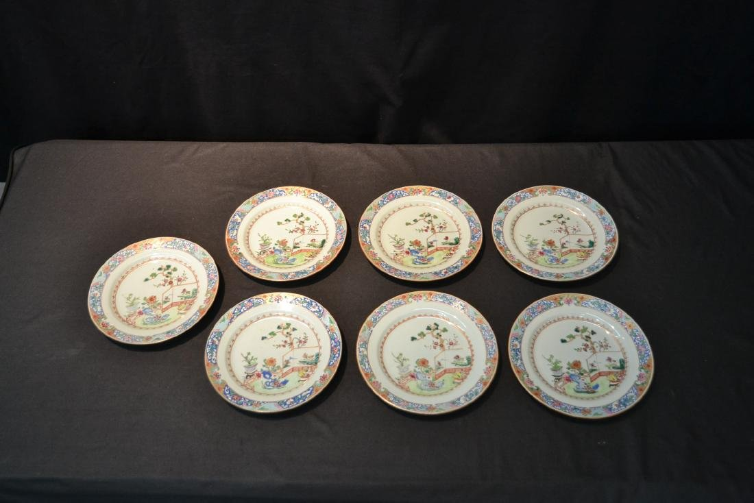 (7) ANTIQUE CHINESE PORCELAIN PLATES WITH - 7