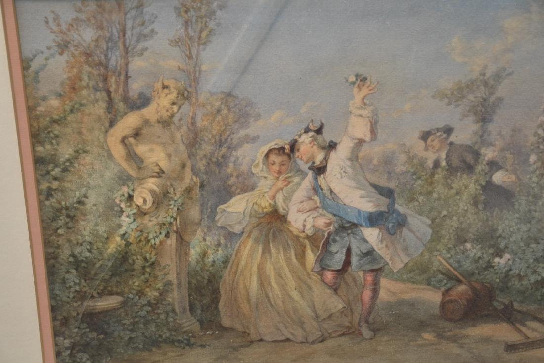 FRAMED PASTORIAL ROMANTIC SCENE PRINT - 4