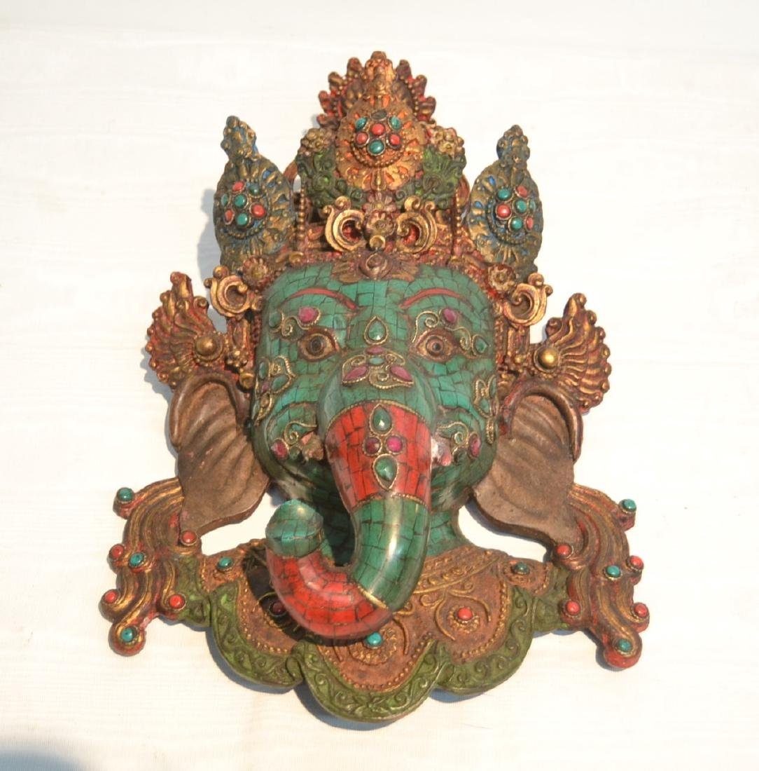 JEWELED LORD GANESHA WALL HANGING