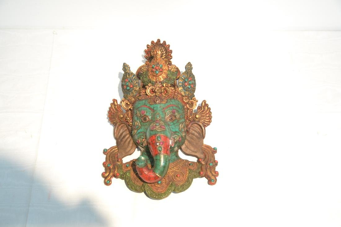 JEWELED LORD GANESHA WALL HANGING - 2