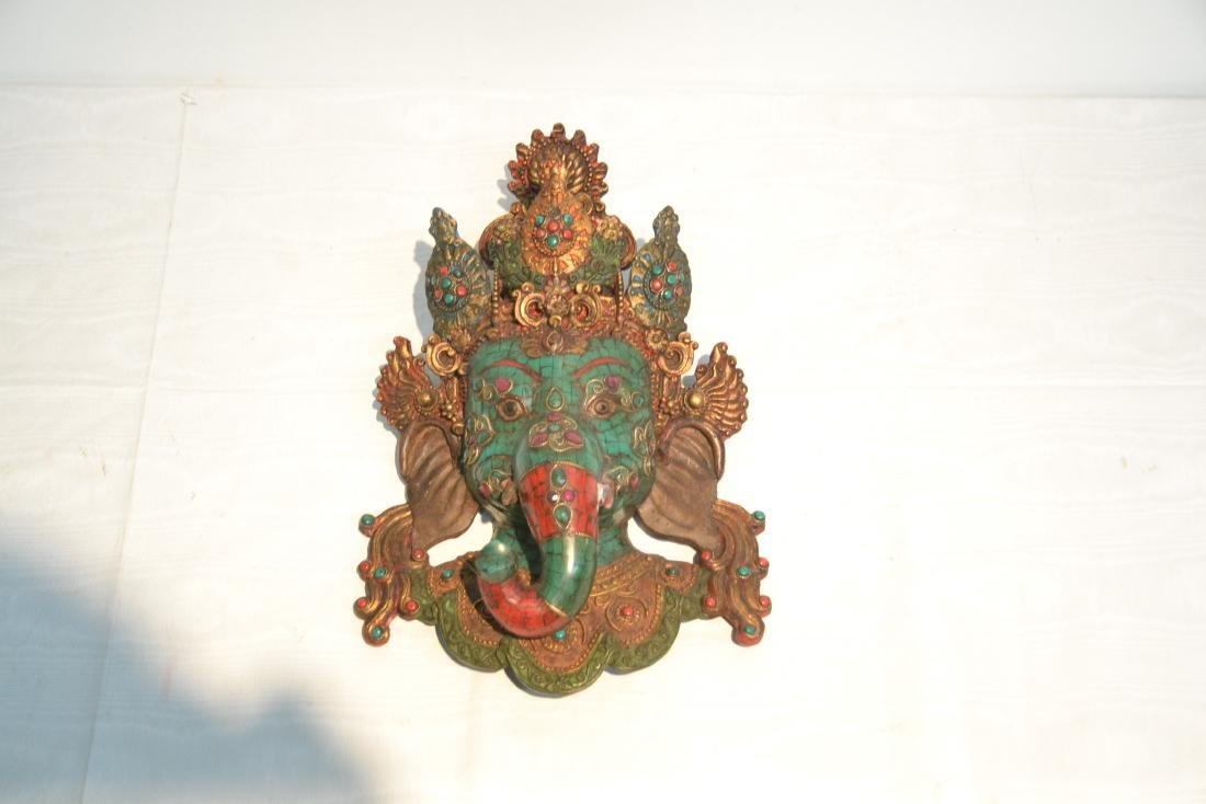 JEWELED LORD GANESHA WALL HANGING - 3