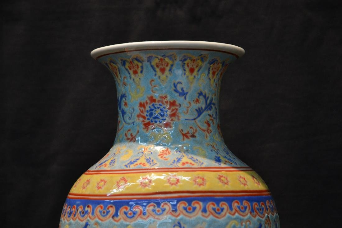 CHINESE PORCELAIN VASE WITH CHILDREN MEDALIONS - 3