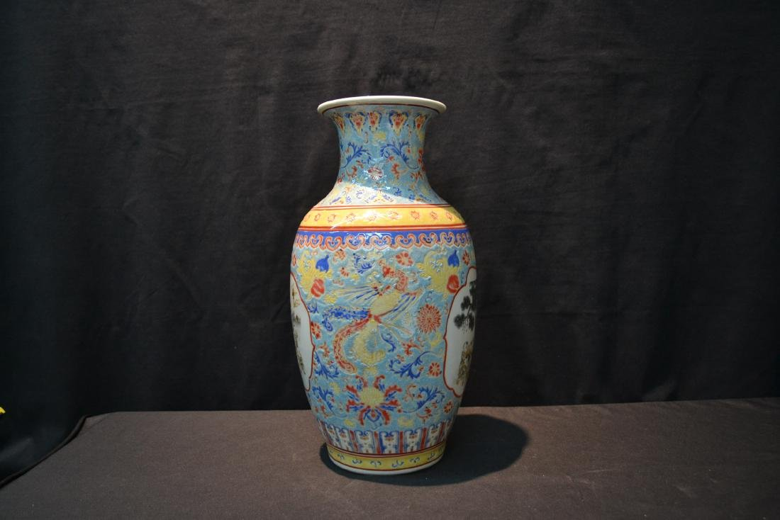 CHINESE PORCELAIN VASE WITH CHILDREN MEDALIONS - 4