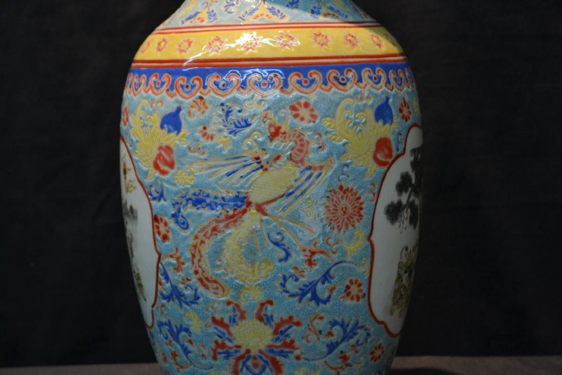 CHINESE PORCELAIN VASE WITH CHILDREN MEDALIONS - 5