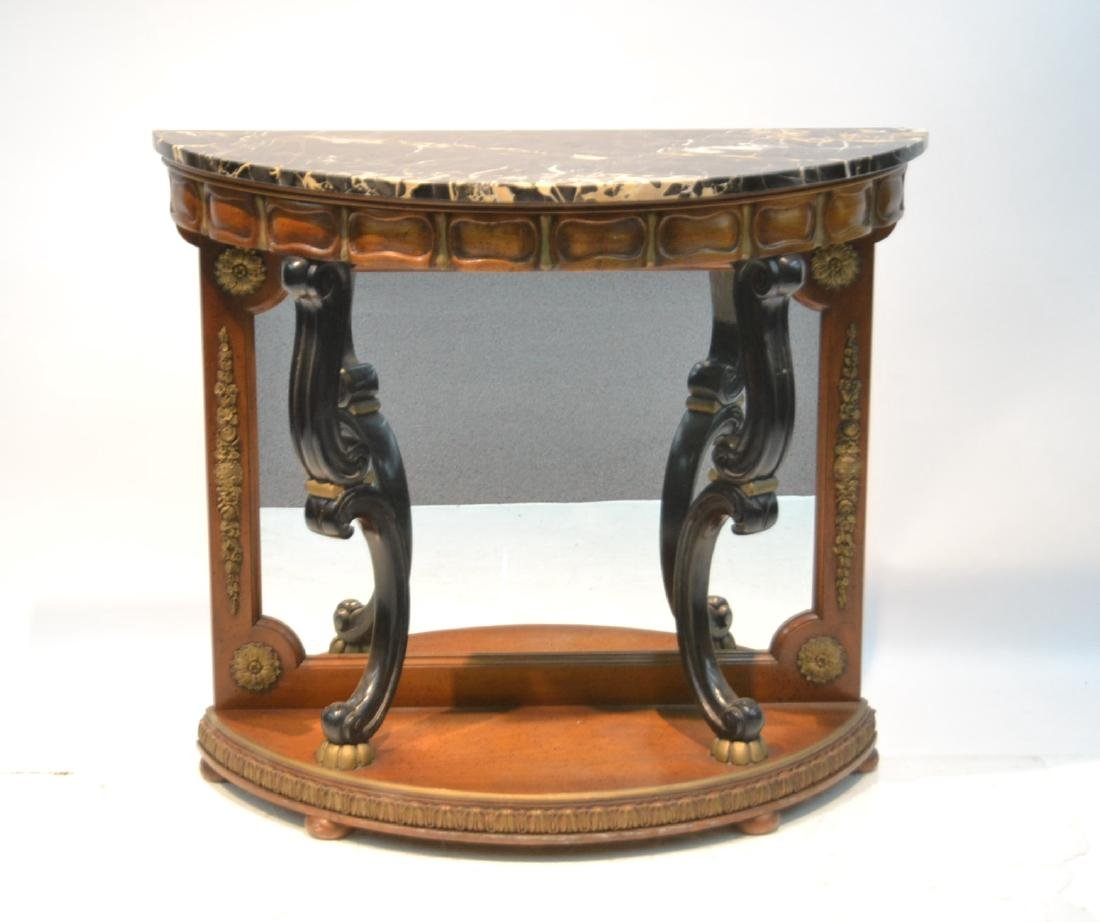 EMPIRE STYLE MARBLE TOP CONSOLE WITH