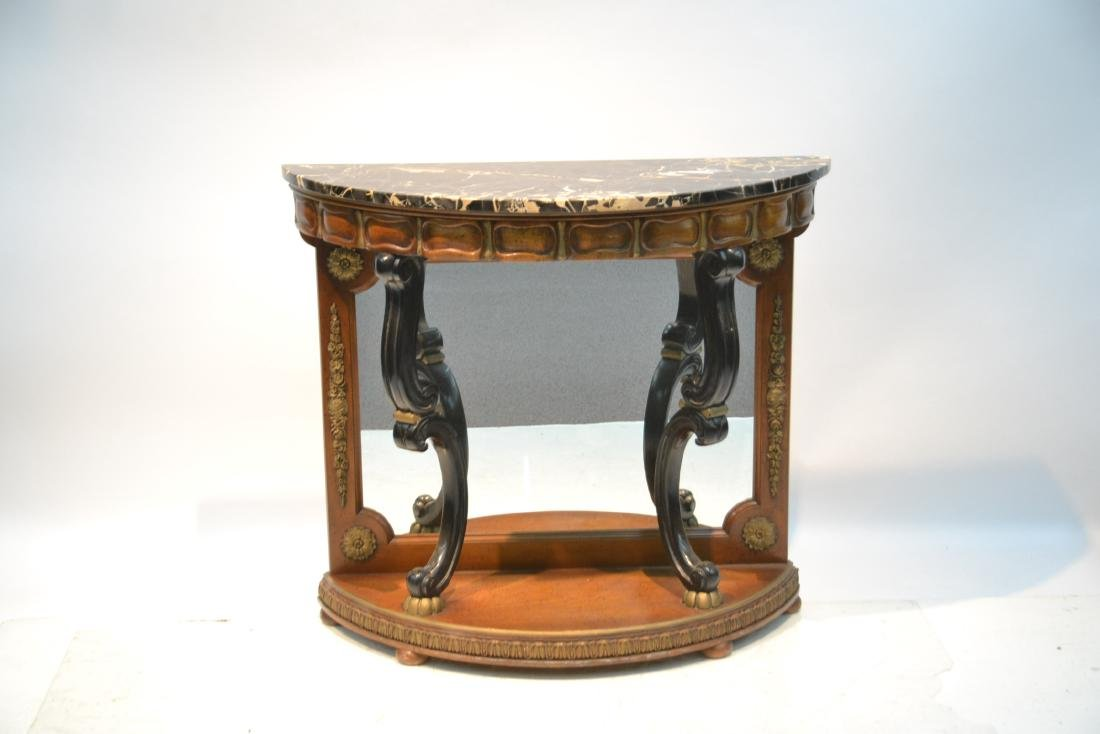 EMPIRE STYLE MARBLE TOP CONSOLE WITH - 2