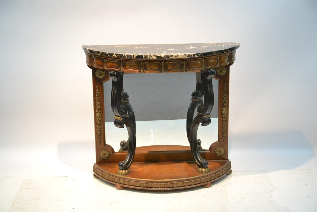 EMPIRE STYLE MARBLE TOP CONSOLE WITH - 3