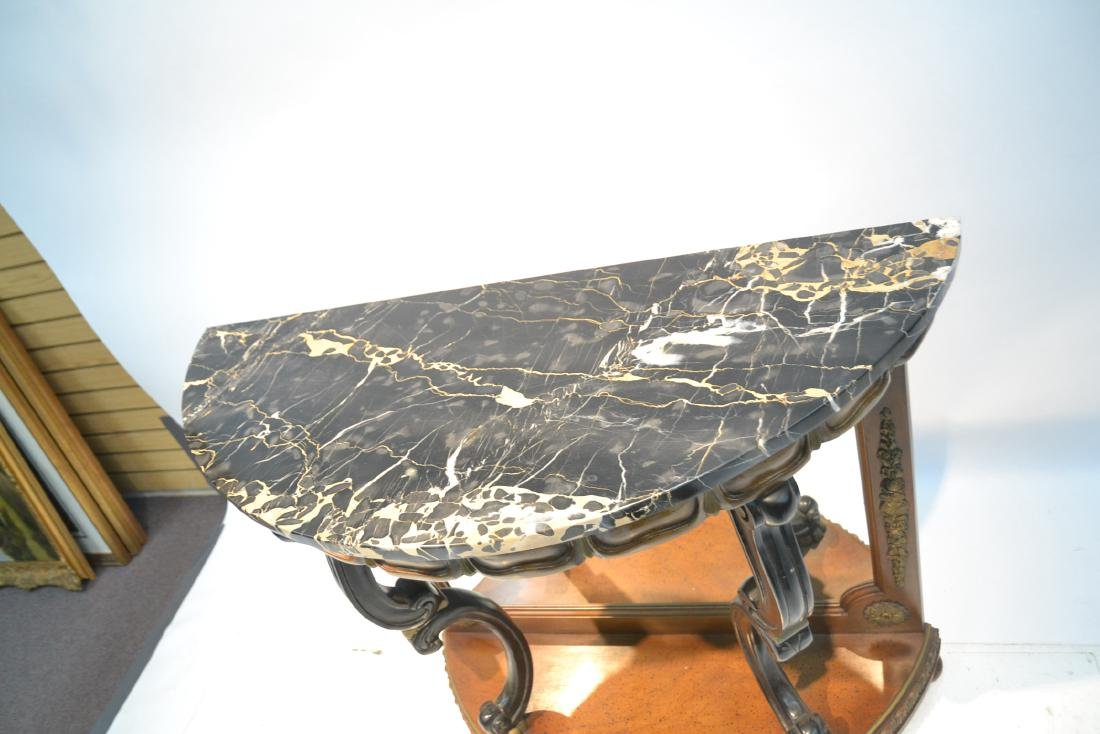 EMPIRE STYLE MARBLE TOP CONSOLE WITH - 5