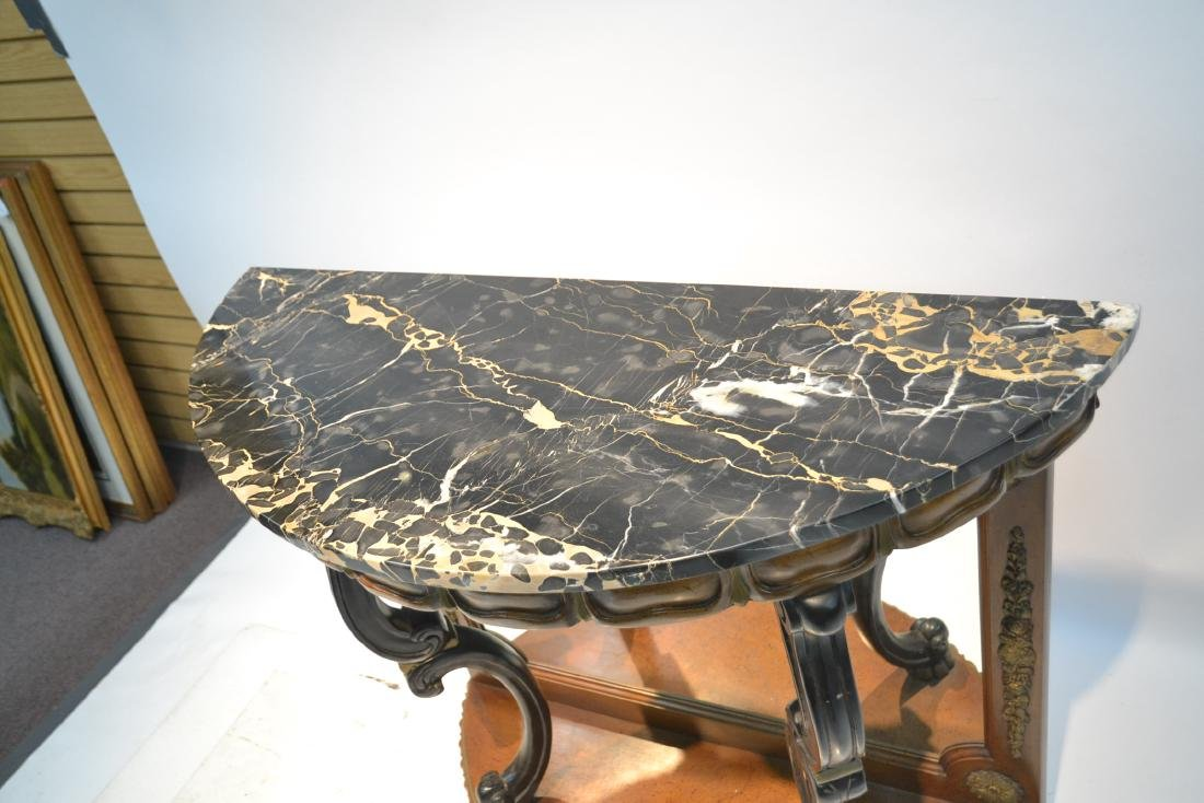 EMPIRE STYLE MARBLE TOP CONSOLE WITH - 6