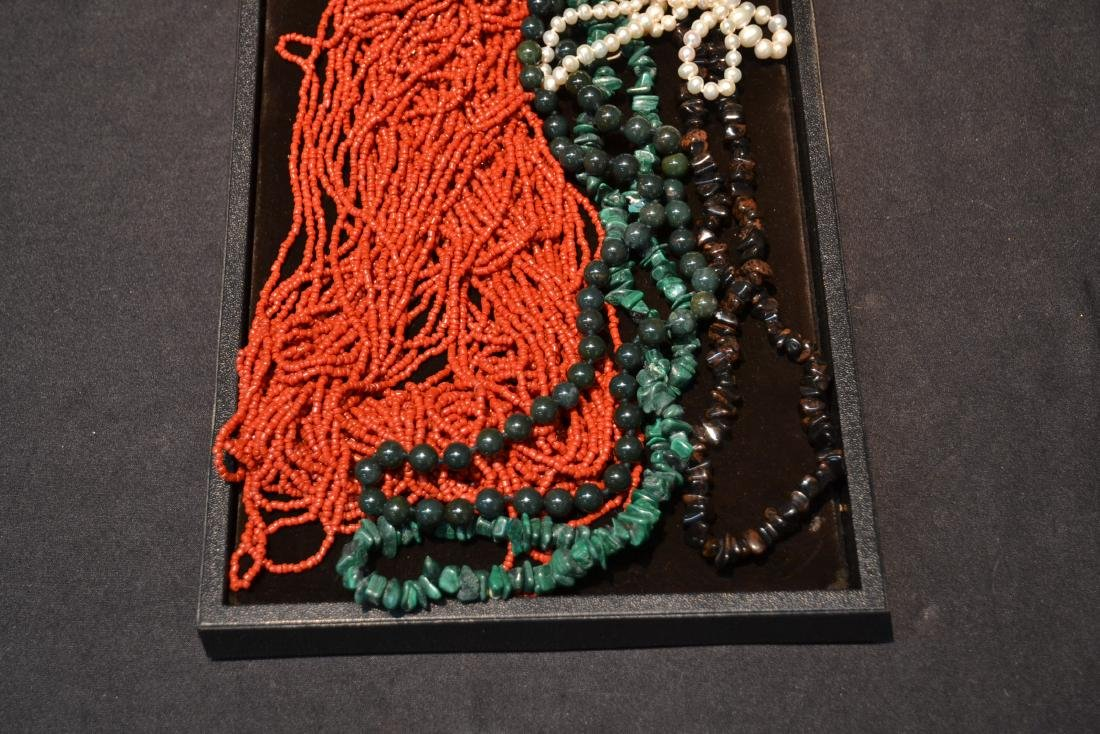 ASSORTED BEADS INCLUDNG JADE - 3