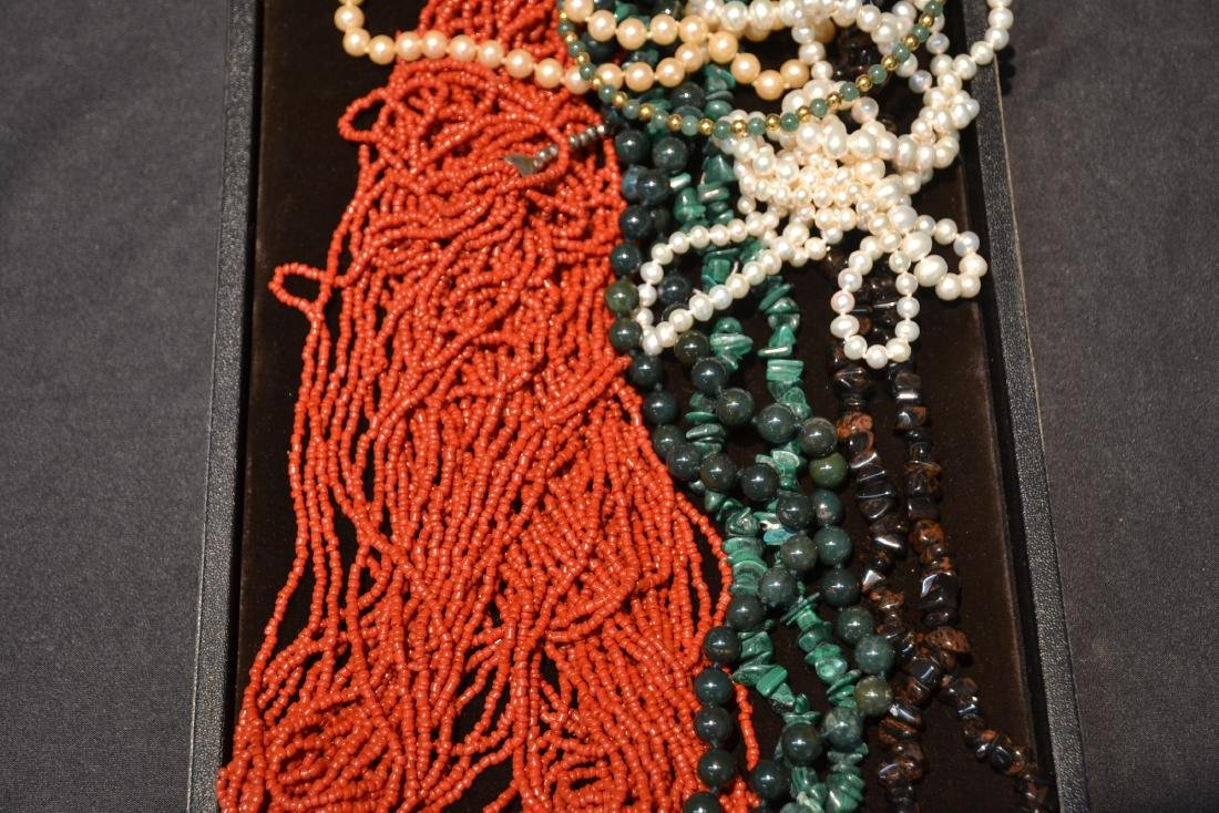 ASSORTED BEADS INCLUDNG JADE - 5