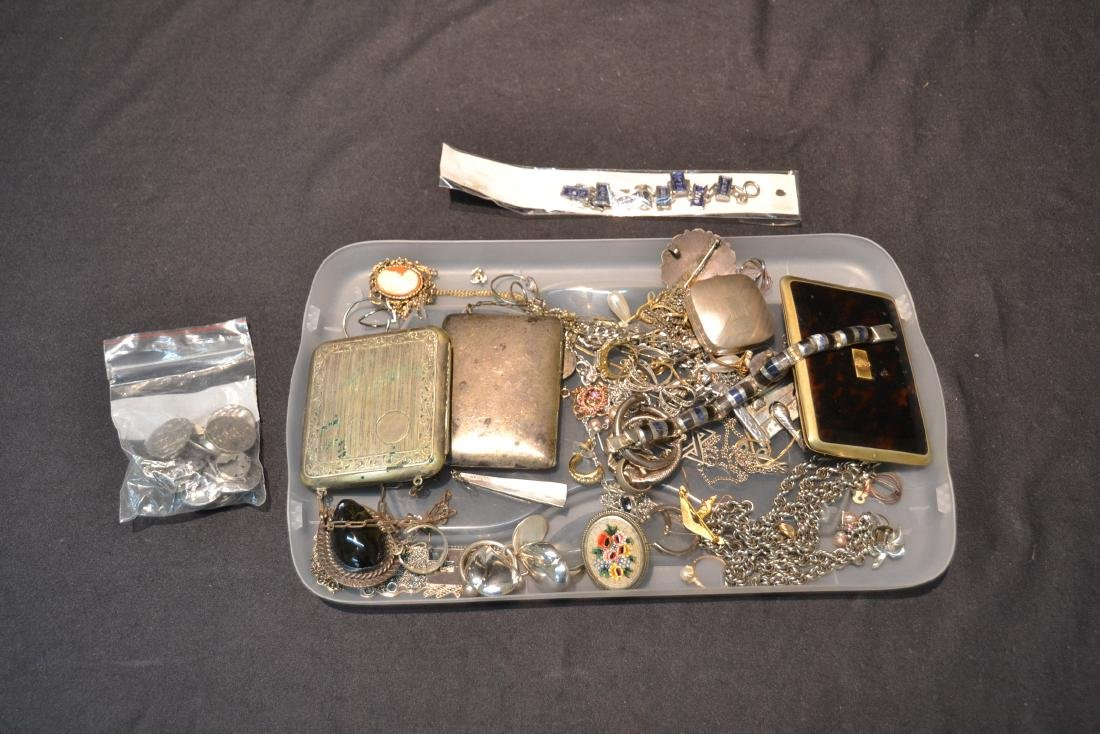 ASSORTED COMPACTS , EARRINGS , RINGS & NECKLACES - 2