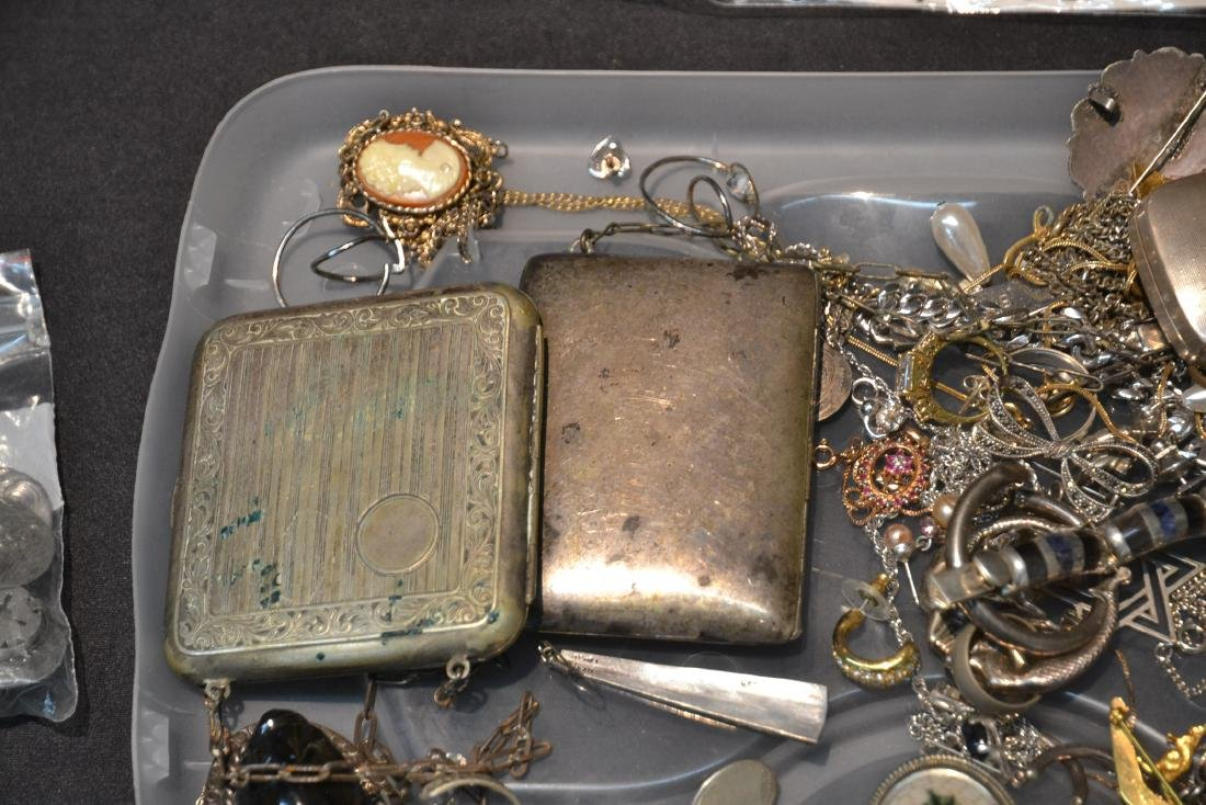 ASSORTED COMPACTS , EARRINGS , RINGS & NECKLACES - 4