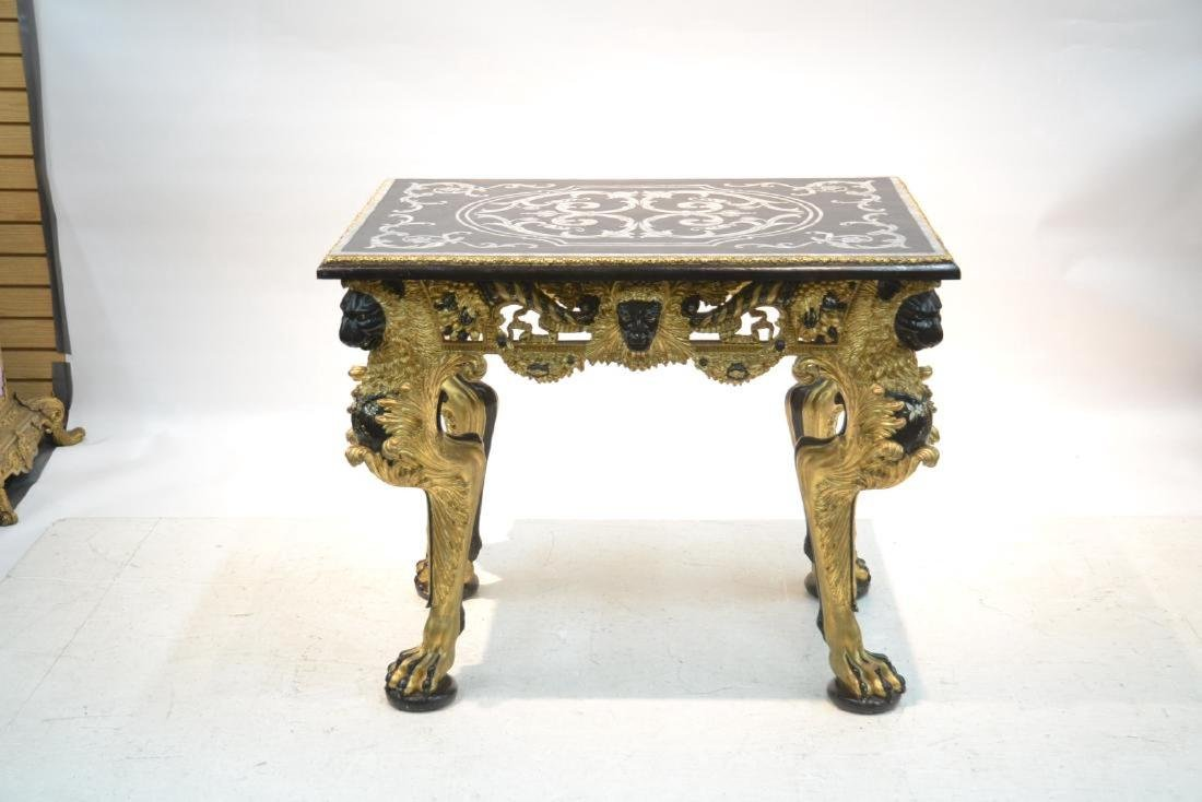 MOTHER OF PEARL INLAID CENTER TABLE - 10