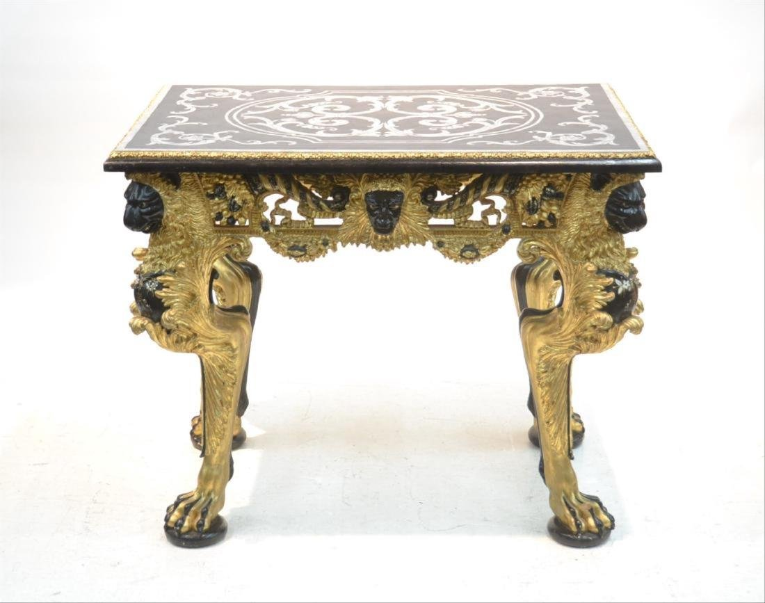 MOTHER OF PEARL INLAID CENTER TABLE