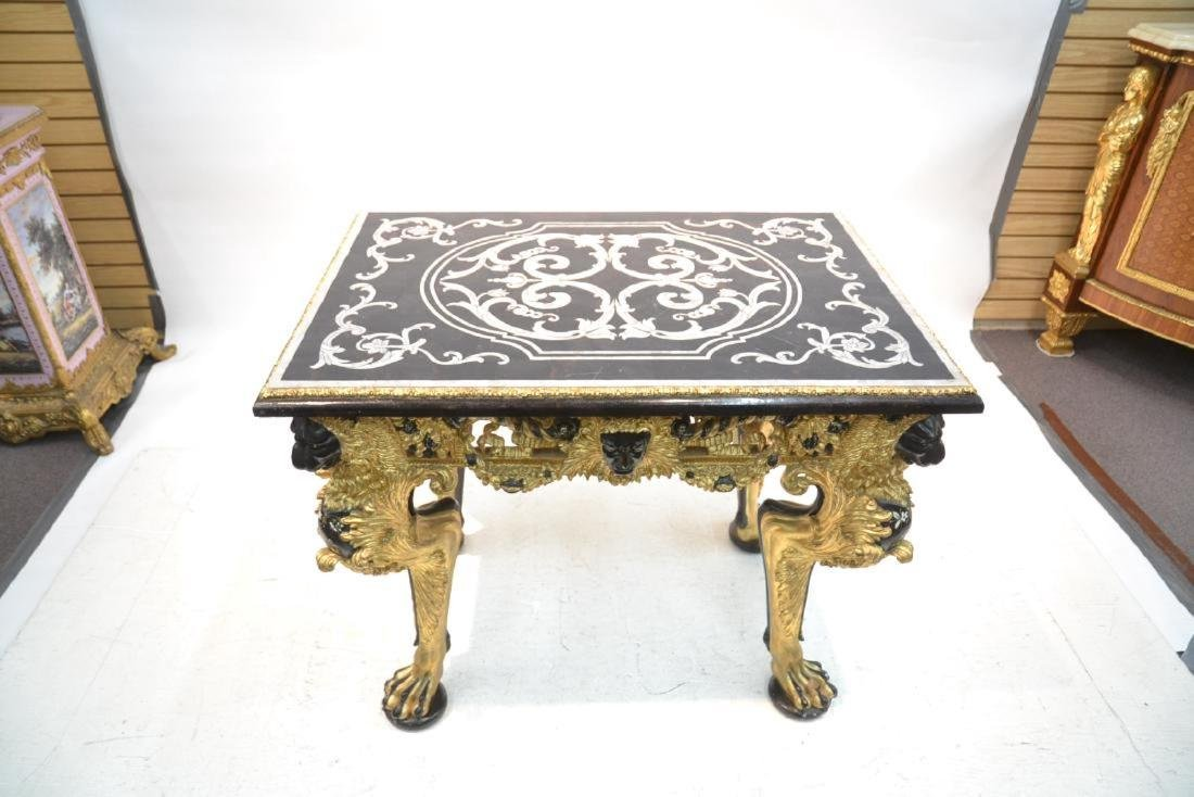 MOTHER OF PEARL INLAID CENTER TABLE - 2