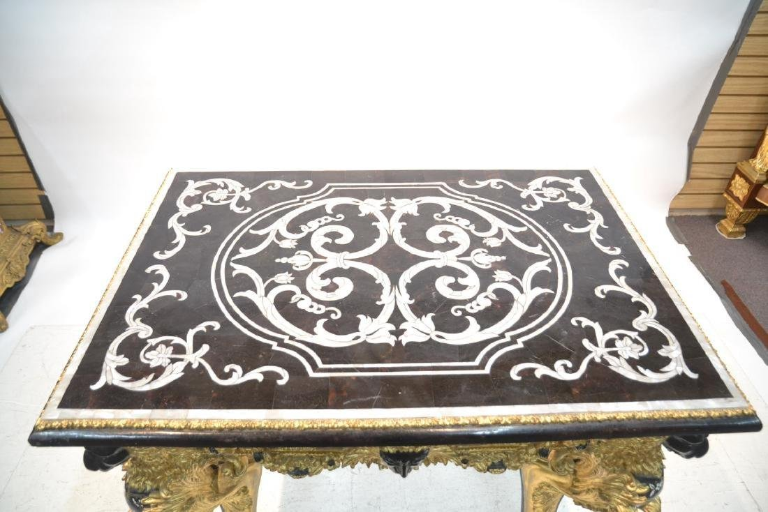 MOTHER OF PEARL INLAID CENTER TABLE - 3