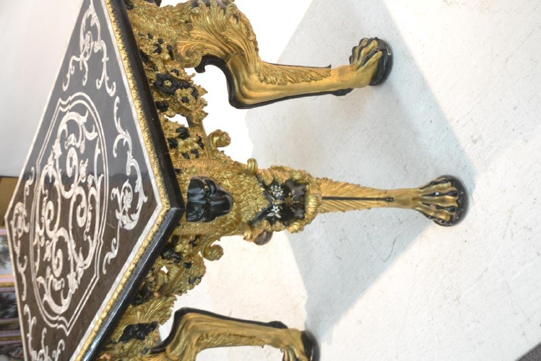 MOTHER OF PEARL INLAID CENTER TABLE - 4
