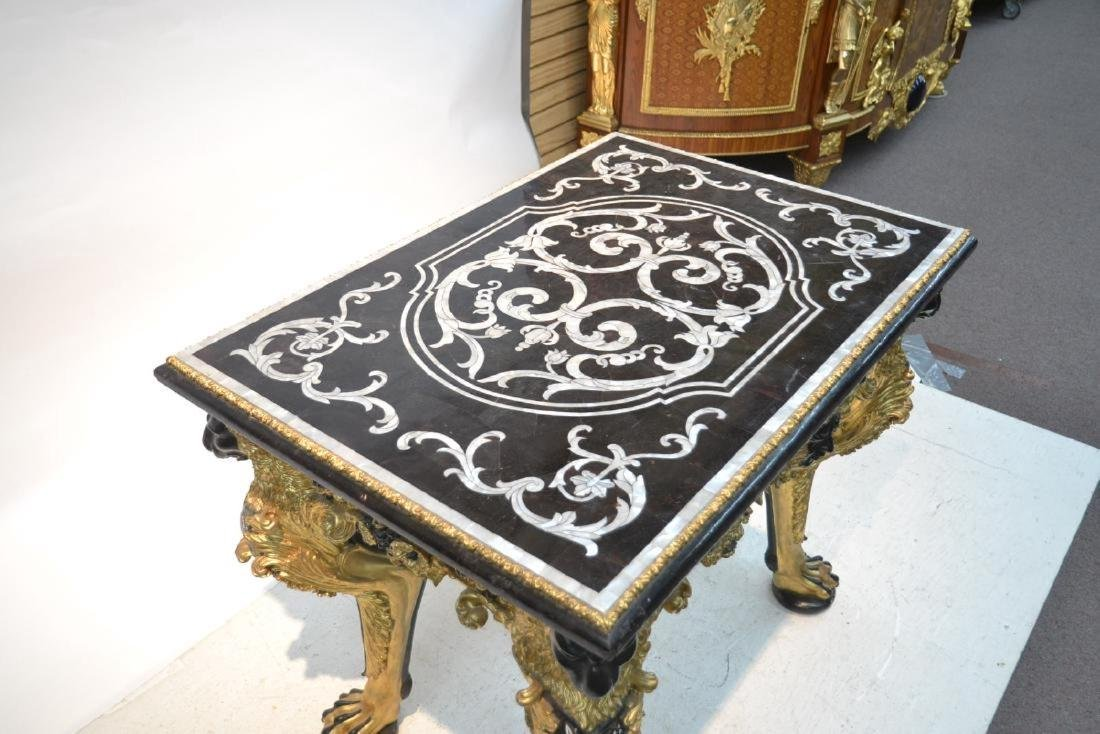 MOTHER OF PEARL INLAID CENTER TABLE - 5