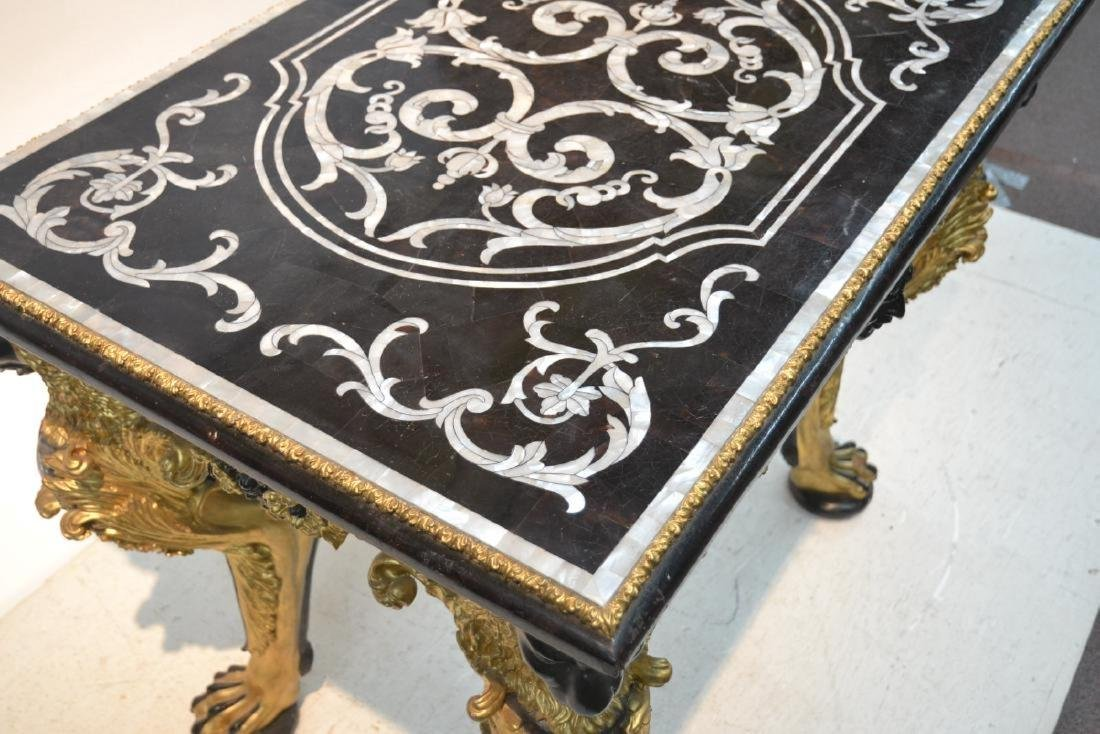 MOTHER OF PEARL INLAID CENTER TABLE - 6