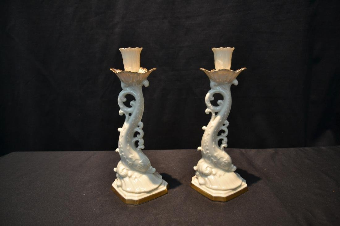 (Pr) LENOX DOLPHIN FORM CANDLE STICKS - 2