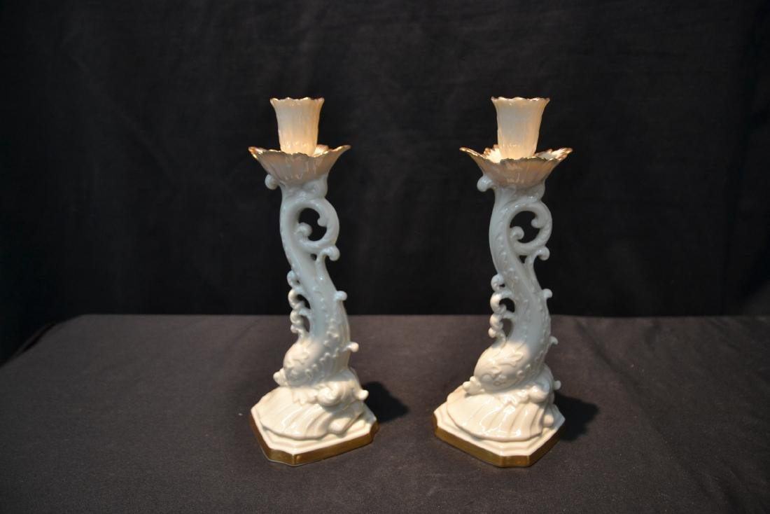 (Pr) LENOX DOLPHIN FORM CANDLE STICKS - 5