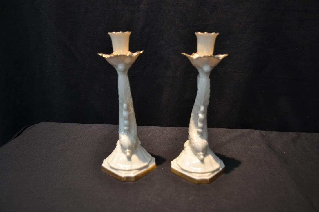 (Pr) LENOX DOLPHIN FORM CANDLE STICKS - 6